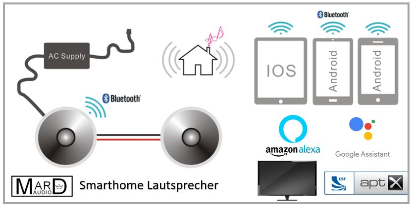 DAN-VAST-172SET smarthome bluetooth Decken-Einbaulautsprecher SET