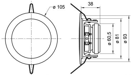 DL 8 ES - 8 Ohm HiFi Deckenlautsprecher aus Edelstahl