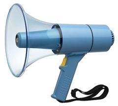 WHM-025 Wassergeschütztes 25W Handmegaphon, hellblau