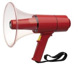 WHM-025S Waterproof Handmegaphon, rot mit Sirenensignal