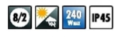 Wetterfester PA-Lautsprecher. PAB-8WP/WS