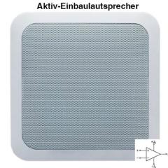 quadratischer Aktiv-Einbaulautsprecher DAN-AKQ-608