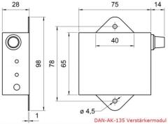 Mini-Aktiv-Einbaulautsprecher DAN-AK-150