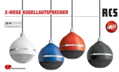 KL-200 farbiger 2-Wege Kugellautsprecher 100V