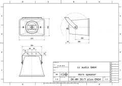 2-Wege-System Musikhorn 100V, zertifiziert nach EN 54-24