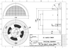 2-Wege Metall-Deckenlautsprecher 100V, zertifiziert nach EN 54-2