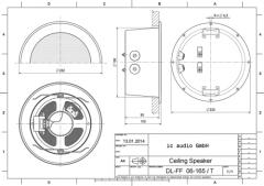Deckeneinbaulautsprecher, 6 Watt, 100 Volt, zertifiziert gemäß E