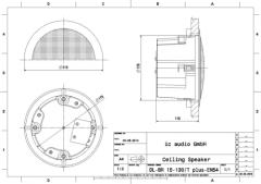 Bassreflex-Deckeneinbaulautsprecher, 15 Watt, 2-Wege