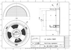 DL 06-200/T-EN54 Deckeneinbau-Lautsprecher EN 54-24