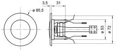 Mini-Aktiv-Einbaulautsprecher DAN-AK-130