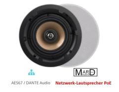 DANTE Netzwerk Decken-Lautsprecher LAN/PoE