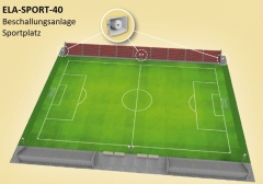 ELA-SPORT-40 Beschallungsanlage Sportplatz